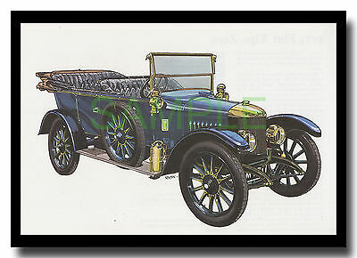 1913 Newton and Bennett 12 hp vintage car framed picture