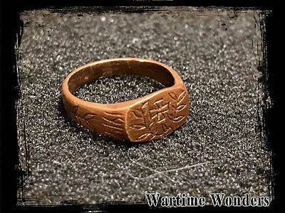 WW1 Imperial German Sweetheart Patriotic Handmade Iron Cross Finger Ring