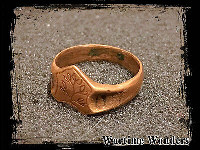 WW1 Imperial German Sweetheart Patriotic Handmade Finger Ring 1914-17