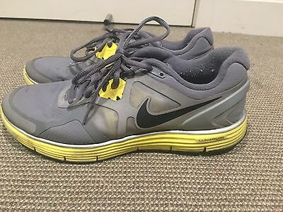 Nike Lunarglide Reflective Runners Sneakers Joggers 8.5 US 25.cm yellow & Grey