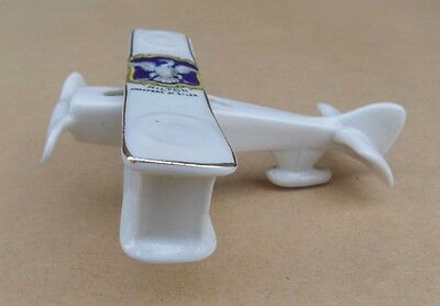 ARCADIAN Crested China WW1 Biplane - Milton Chalfont St Giles