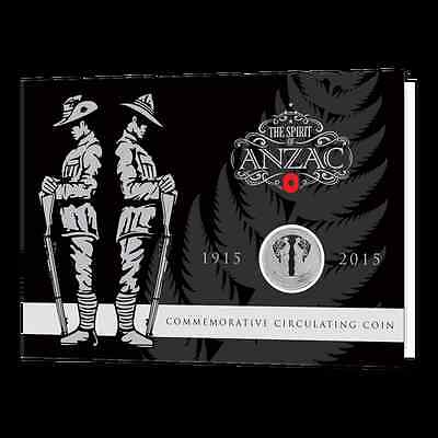 2015 The Spirit Of Anzac  Coloured 50 Cents Unc Coin In Collectible Pack!!rare