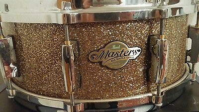 PEARL MASTERS CUSTOM MMX MAPLE 10 LUG SNARE 14x6,5 LIMITED GOLD EDITION