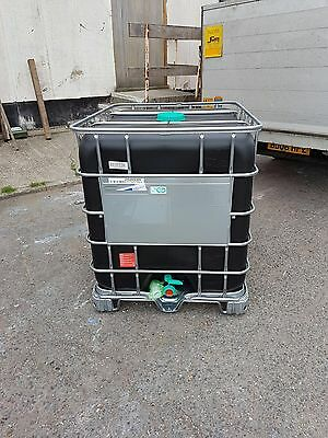 1000 Litre Black Tank IBC Water Storage Container Food Grade