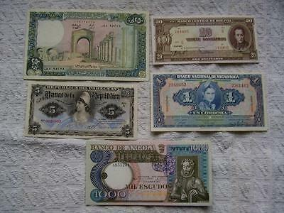 World Banknotes EF & better (5)