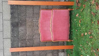 French vintage Louis Philippe capitonne single bed