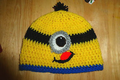 Childrens Handmade Despicable Me Minion Hat