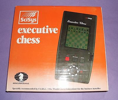 ideal gift  vintage retro executive electronic Chess Computer by scisys