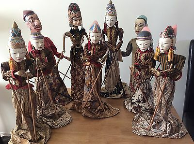 REDUCED For Quick Sale traditional Indonesian  wayang goleck Stick Puppets