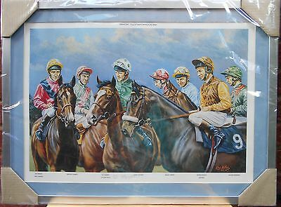 Group One Framed Limited Edition Print by Roy Miller New wrapped