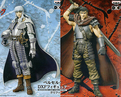 RARE Berserk DXF Figure Guts & Griffith set BANPRESTO 16cm Japan