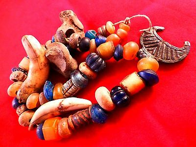Viking Decorative Glass Beads Necklace Charm