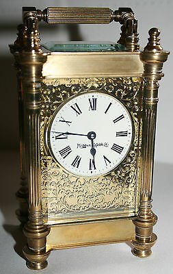 Antique Brass French Carriage Clock By Mappin & Webb Ltd