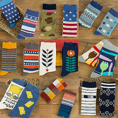 2 Pair/Lot Cotton socks AB lovers socks, flowers, striped, camouflage patten