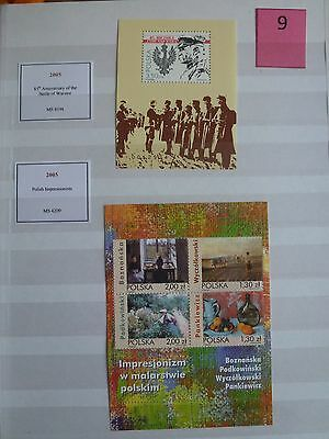 STAMPS: Poland 9: 2005 Mixture 1, Mint Never Hinged, see scans