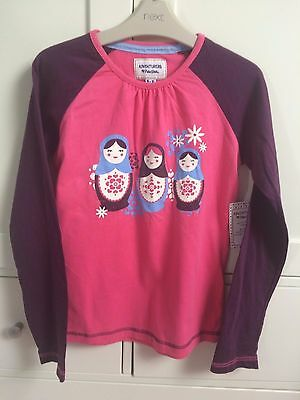 Girls Peter Storm Long Sleeved T-Shirt Pnk & Violet & Russian Doll Age 9-10 Bnwt