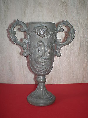 Old Greek metal replica of an antique vessel / bowl with figures and ornaments