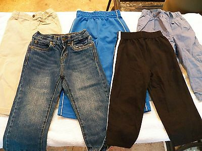Baby Toddler Boys Size 24 Mos 2T Pants Jeans Bottoms Winter Fall Lot of 5 - GUC