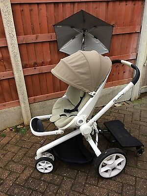 quinny moodd Single Seat Stroller with quinny buggy board and extras