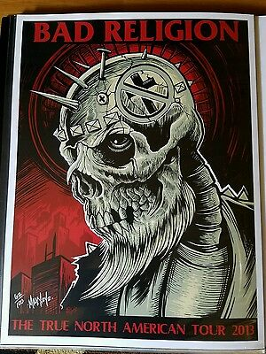 Bad Religion True North American Tour S/N poster! Social distortion, NOFX