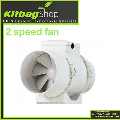 "4"" Hydroponic Grow Room Fan Inline Tent Extractor For Duct Carbon Filter UK PLUG"