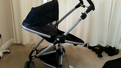 quinny zapp xtra with raincover and car seat adapters