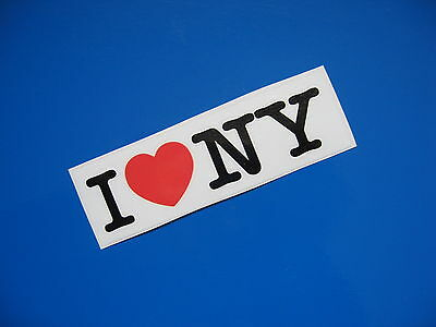 I LOVE NY stickers/decals x 2