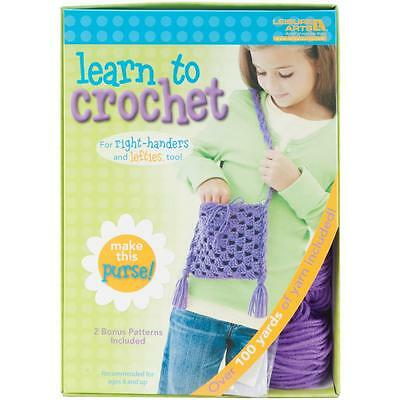 Leisure Arts Learn to Crochet Purse Kit Kids Craft Kit