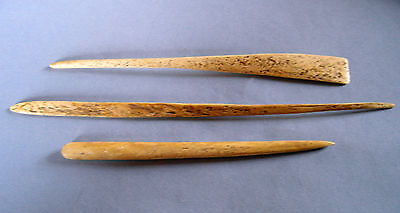 Three Ancient Neolithic cloak or hair pins. (015289).