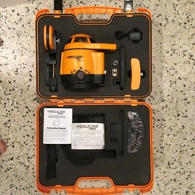 Johnson Acculine Kit 40-6520 Self-Leveling Rotary Laser Level & 40-6770 Detector