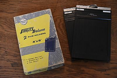 Fidelity Delux 4x5 double film sheet holder in Original Box. Very good condition