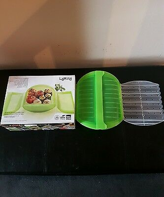 Lekue STEAM CASE 1400ML WITH TRAY 3/4 PERSONS GREEN