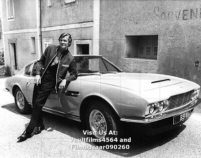 """ROGER MOORE - THE PERSUADERS - ASTON MARTIN - 10"""" x 8"""" Colour Photo 1970's #3561"""