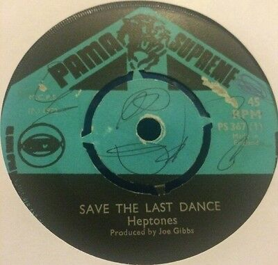 "Heptones Save The Last Dance Pama Supreme 7"" 45"