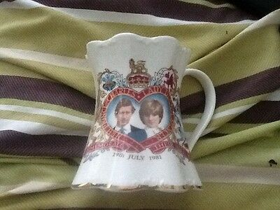 Bone china lady Diana prince Charles commerative marriage cup