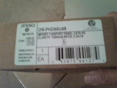 Ortronics Clarity Cat6 48-Port Patch Panel OR-PHD66U48 -BRAND NEW