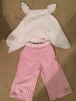 LITTLE DARLING 2 pice outfit/set trousers and top age 24 months/2 years girls