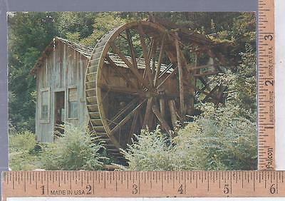 1950s USED POST CARD OVERSHOT WATER WHEEL AT OLD MILL