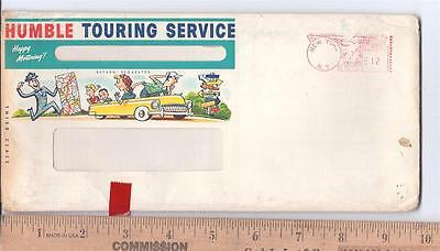 1950s HUMBLE TOURING SERVICE  advertising tourist travel folder