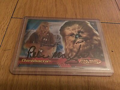 Topps Star Wars Evolution Card 19 Signed By PETER MAYHEW