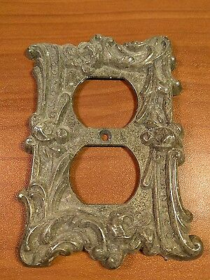 VINTAGE Edmar 60D Ornate Brass Outlet Cover Antique Home Decor