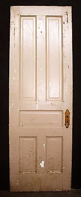 "28""x84"" Antique Vintage Victorian Solid Wood Wooden Interior Door 5 Raised Panel"