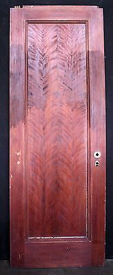 "29.5""x86.5x1.75 Antique Vintage Oak Birch Wood Wooden Interior Door Single Panel"