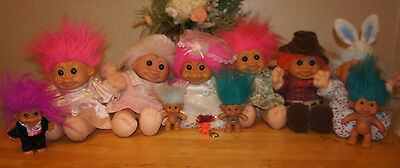 11 Troll Dolls Lot - Some Russ