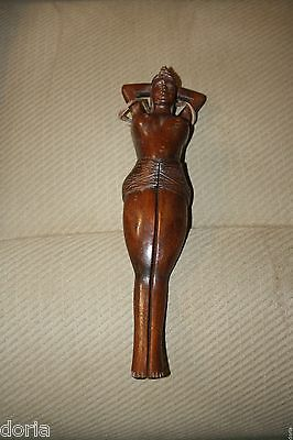 Wooden Naked Lady Nutcracker, Vintage