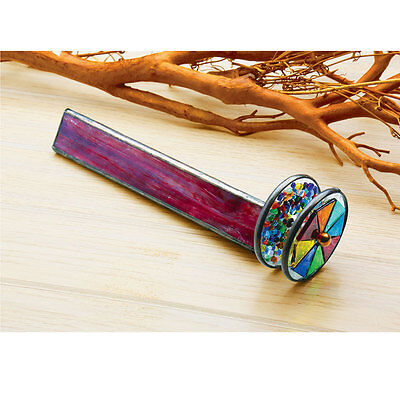 Stained Art Glass Kaleidoscope Prism Optical Collectable Retro Handmade