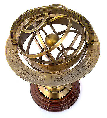 Brass Armillary Sphere / Nautical Decor Globe Nautical Brass Compass 5""