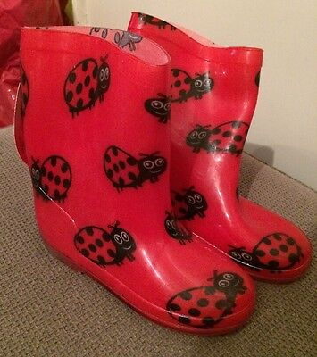 Children's Red Ladybird Wellies Size 11 BNWT