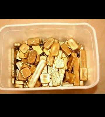 58 grams gold recovery gold bar Melted Drop Scrap plated Recovered cpu NEW gift