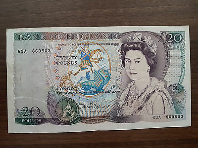 England 20 pounds 1984 banknote